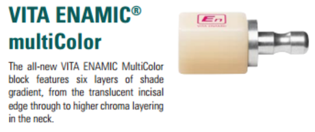VITA ENAMIC® multiColor for Cerec®/inLab® VITA SYSTEM 3D-MASTER®
